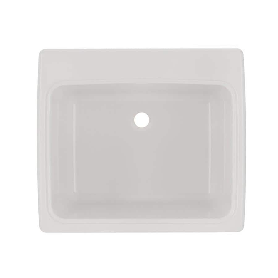 Swanstone 25 In X 22 In 1 Basin White Self Rimming Composite