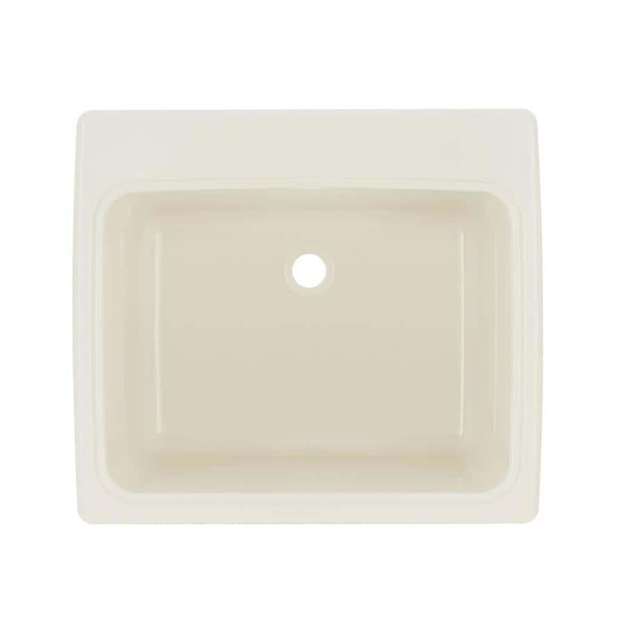 Composite Laundry Sink : ... in Bisque Self-Rimming Composite Laundry Utility Sink (Drain Included