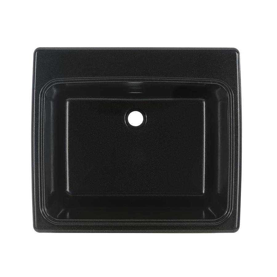 Swanstone 25 In X 22 In 1 Basin Midnight Sparkle Self Rimming