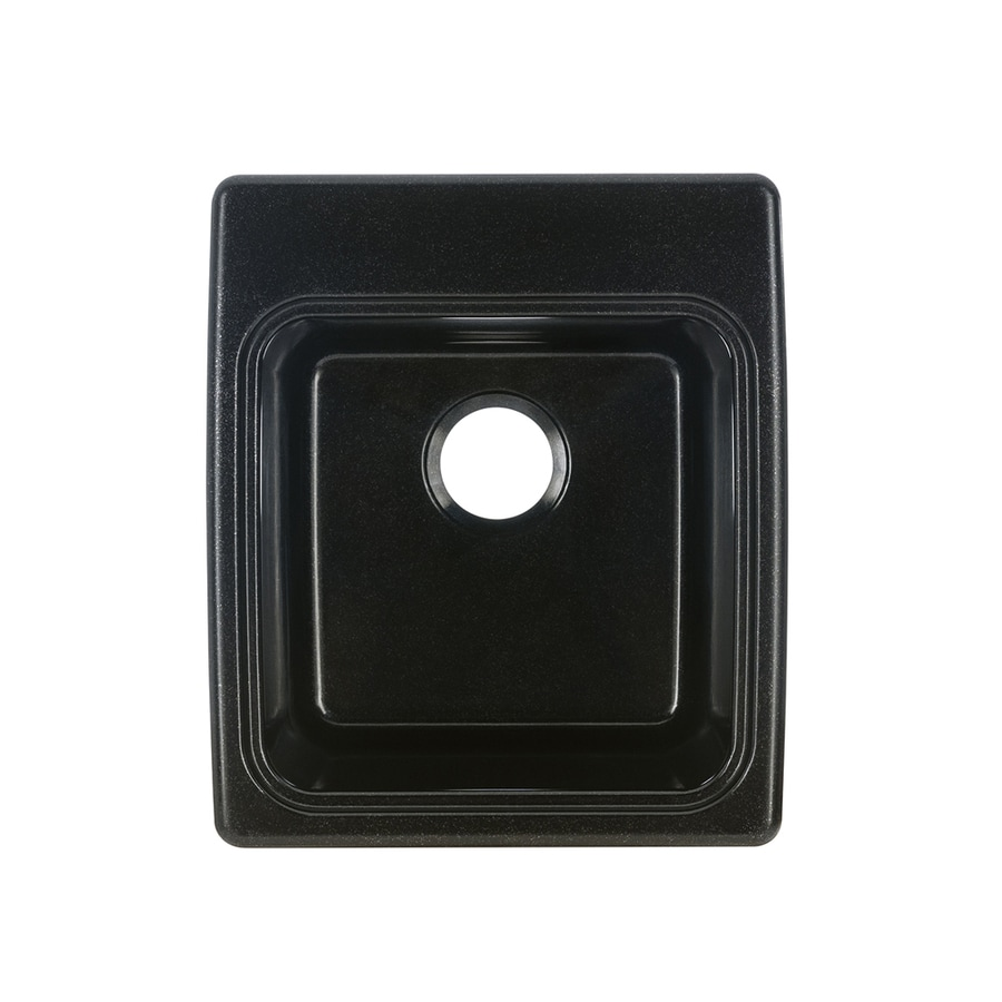 Exceptional Swanstone 17.25 In X 20 In 1 Basin Midnight Sparkle Self Rimming