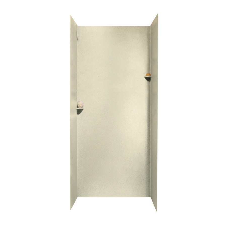 Swanstone Bone Shower Wall Surround Side And Back Wall Kit (Common: 36-in x 36-in; Actual: 96-in x 36-in x 36-in)