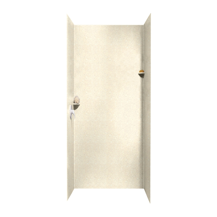 Swanstone Pebble Shower Wall Surround Side and Back Walls (Common: 36-in x 36-in; Actual: 96-in x 36-in x 36-in)