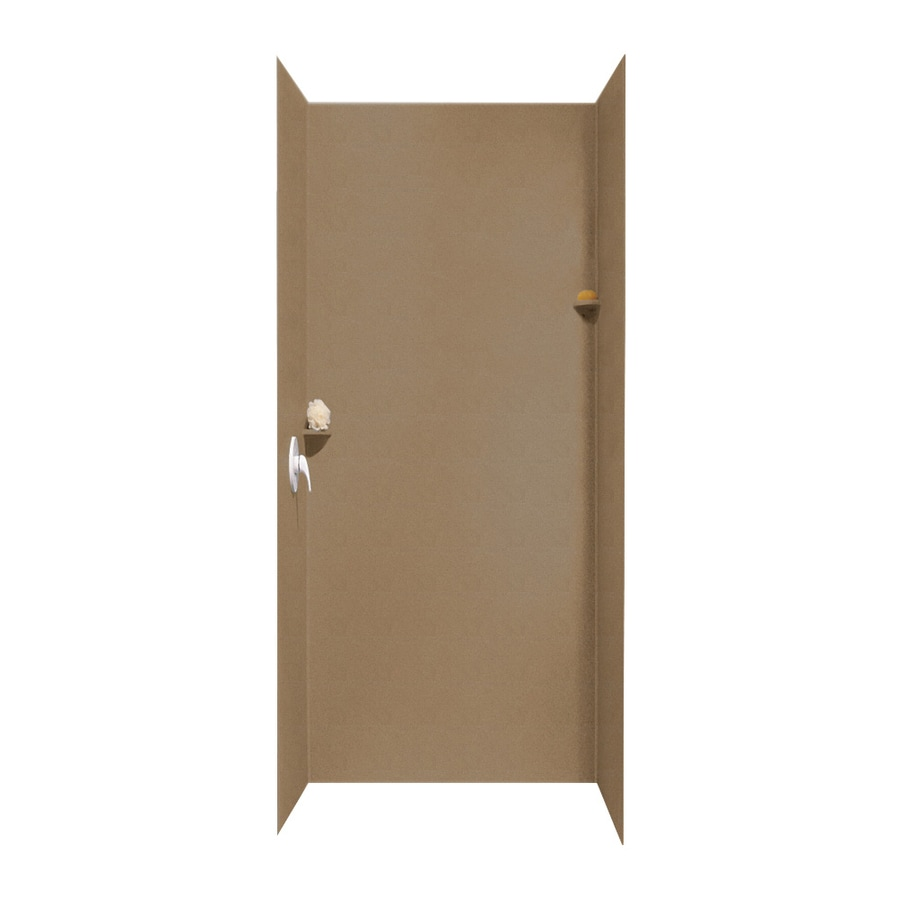 Swanstone Barley Shower Wall Surround Side And Back Wall Kit (Common: 36-in x 36-in; Actual: 96-in x 36-in x 36-in)