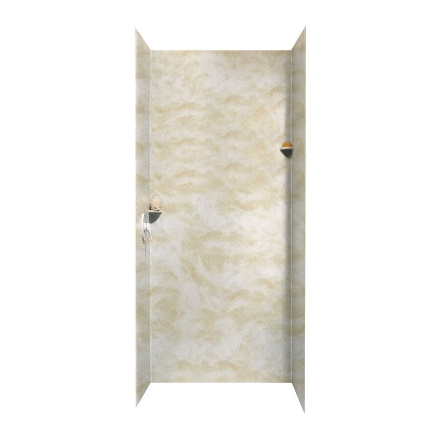 Swanstone Cloud White Shower Wall Surround Side and Back Walls (Common: 36-in x 36-in; Actual: 96-in x 36-in x 36-in)