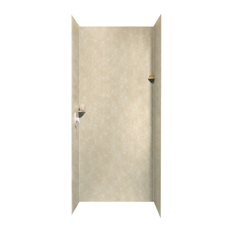 Swanstone Cloud Bone Shower Wall Surround Side And Back Wall Kit (Common: 36-in x 36-in; Actual: 96-in x 36-in x 36-in)