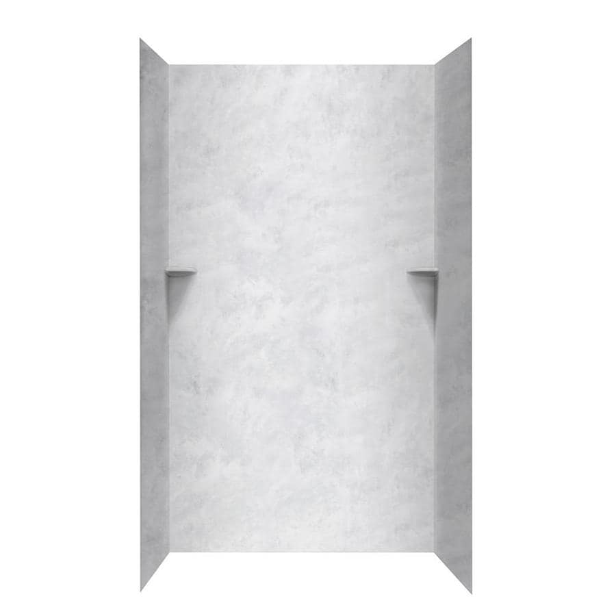 Swanstone Ice Shower Wall Surround Side And Back Wall Kit (Common: 36-in x 36-in; Actual: 96-in x 36-in x 36-in)