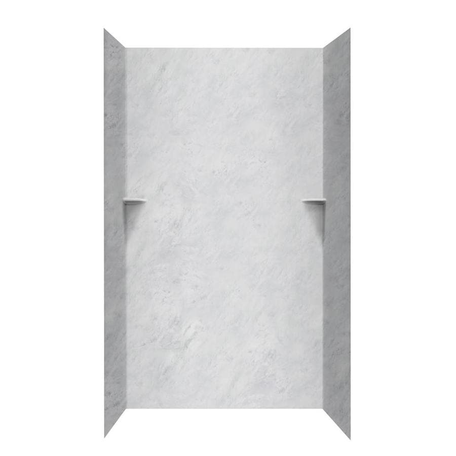 Swanstone Tundra Shower Wall Surround Side And Back Wall Kit (Common: 36-in x 36-in; Actual: 96-in x 36-in x 36-in)