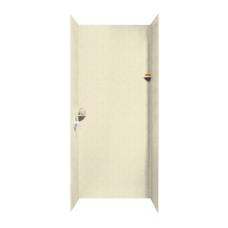 Swanstone Caraway Seed Shower Wall Surround Side and Back Walls (Common: 36-in x 36-in; Actual: 96-in x 36-in x 36-in)