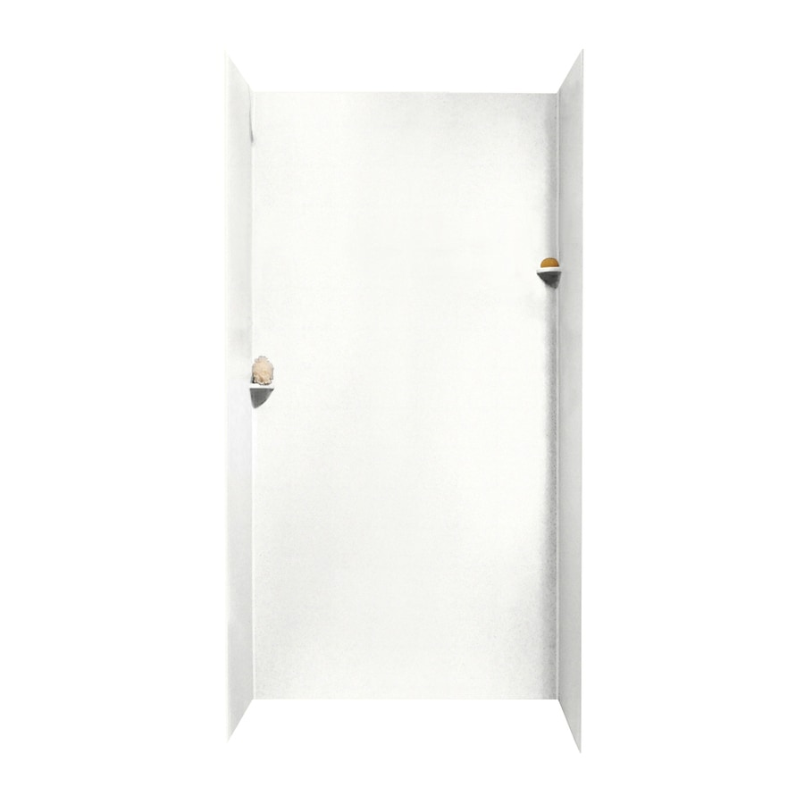 Swanstone Tahiti White Shower Wall Surround Side And Back Wall Kit (Common: 48-in x 36-in; Actual: 96-in x 48-in x 36-in)