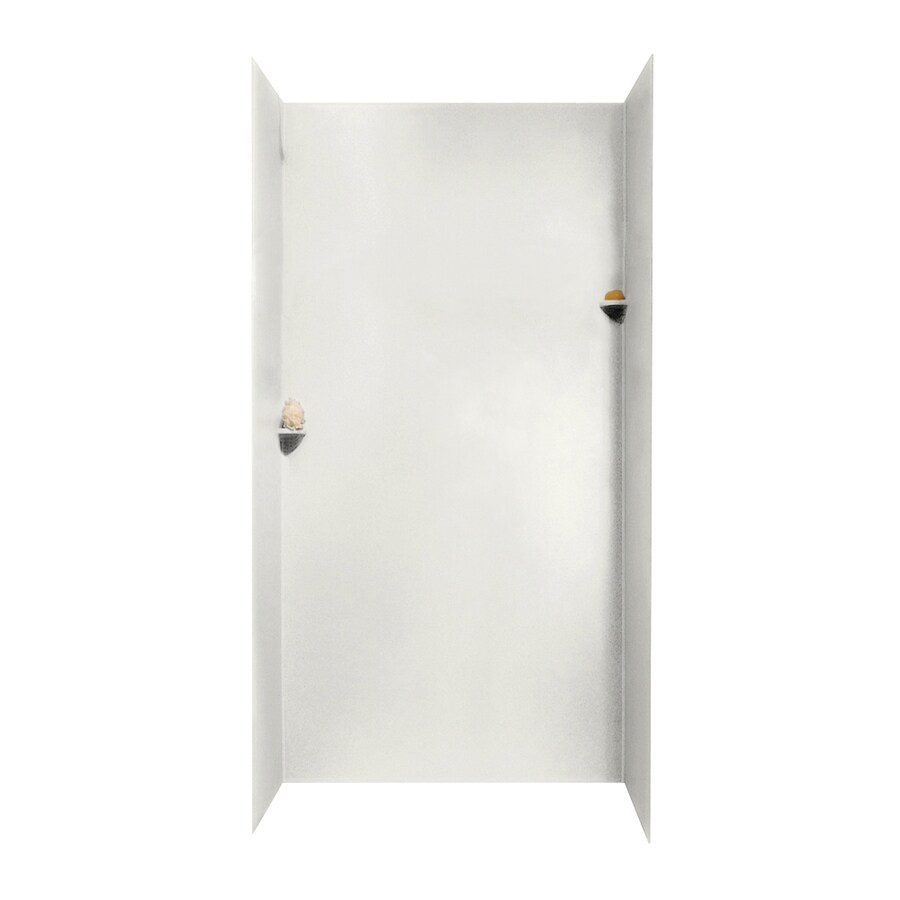 Swanstone Bisque Shower Wall Surround Side and Back Walls (Common: 48-in x 36-in; Actual: 96-in x 48-in x 36-in)