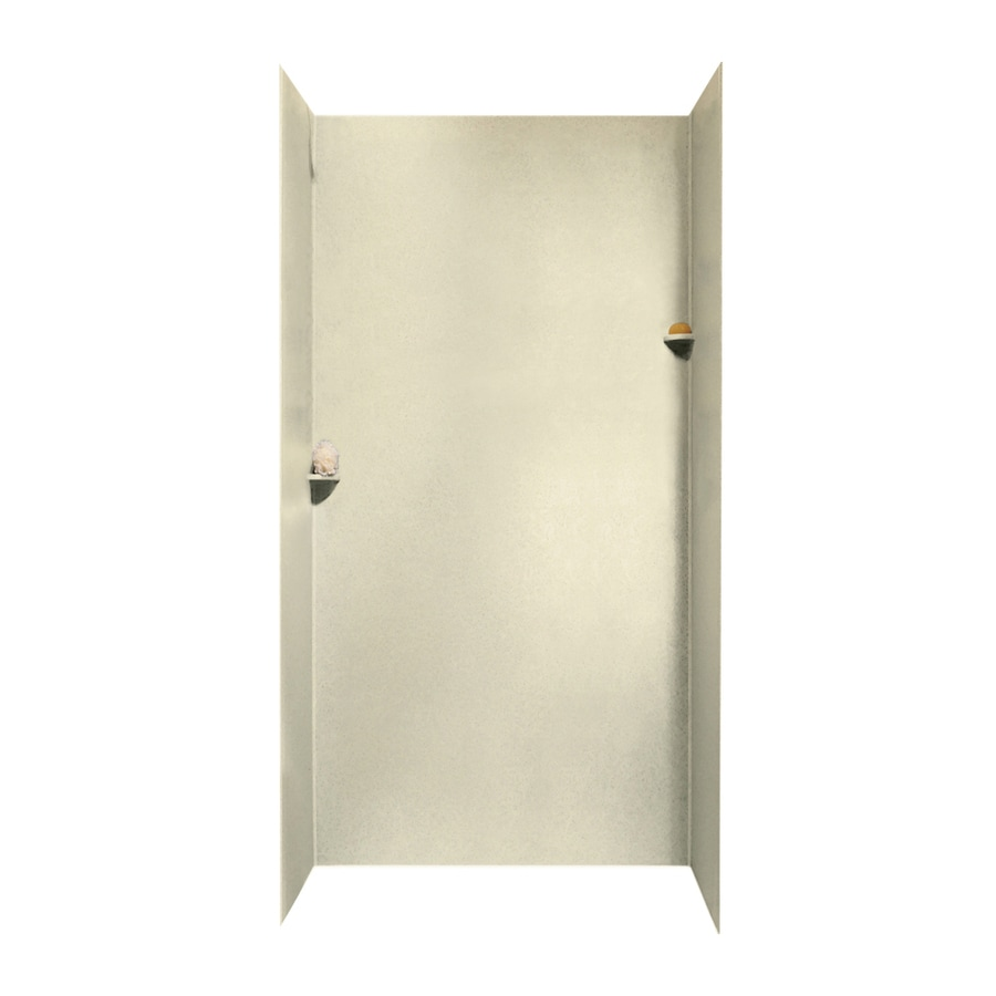 Swanstone Bone Shower Wall Surround Side and Back Walls (Common: 48-in x 36-in; Actual: 96-in x 48-in x 36-in)