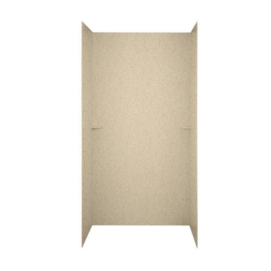 Swanstone Bermuda Sand Shower Wall Surround Side and Back Wall Kit (Common: 48-in x 36-in; Actual: 96-in x 48-in x 36-in)
