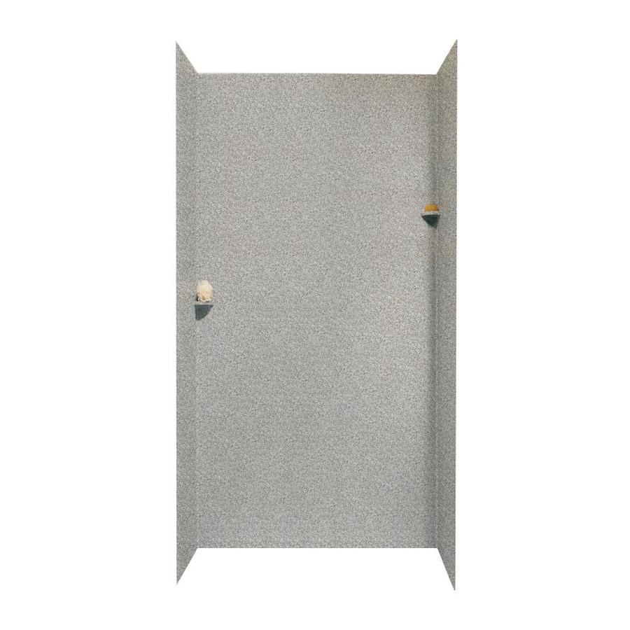 Swanstone Gray Granite Shower Wall Surround Side and Back Walls (Common: 48-in x 36-in; Actual: 96-in x 48-in x 36-in)