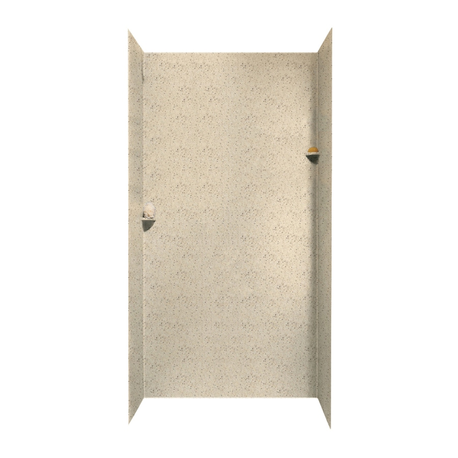Swanstone Tahiti Desert Shower Wall Surround Side and Back Walls (Common: 48-in x 36-in; Actual: 96-in x 48-in x 36-in)