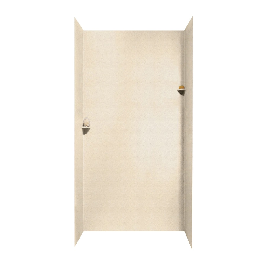 Swanstone Tahiti Sand Shower Wall Surround Side and Back Walls (Common: 48-in x 36-in; Actual: 96-in x 48-in x 36-in)