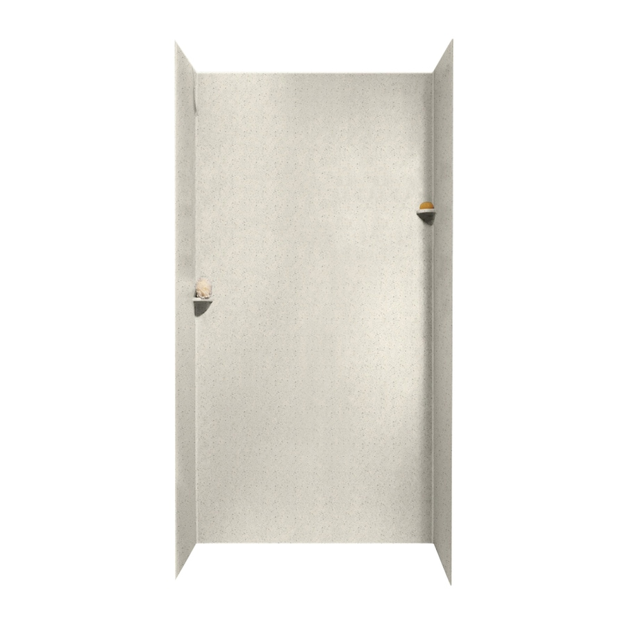 Swanstone Tahiti Matrix Shower Wall Surround Side and Back Walls (Common: 48-in x 36-in; Actual: 96-in x 48-in x 36-in)