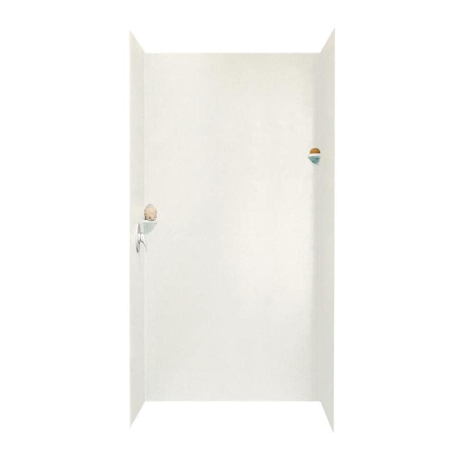 Swanstone Tahiti Ivory Shower Wall Surround Side And Back Wall Kit (Common: 48-in x 36-in; Actual: 96-in x 48-in x 36-in)