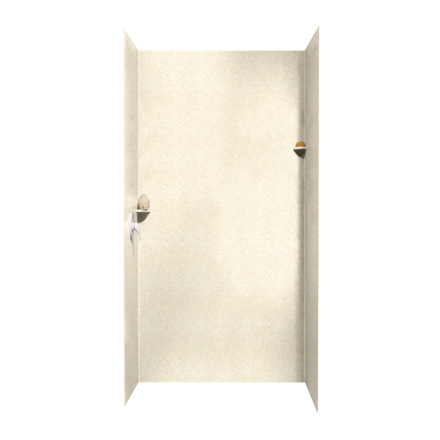 Swanstone Pebble Shower Wall Surround Side and Back Walls (Common: 48-in x 36-in; Actual: 96-in x 48-in x 36-in)