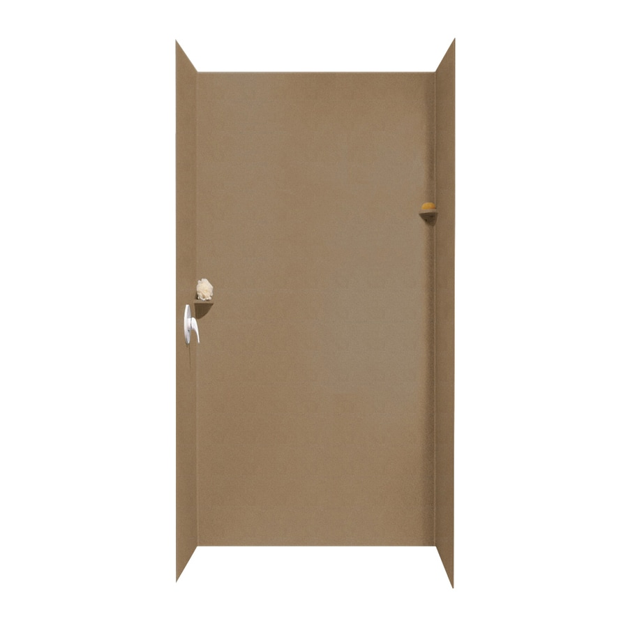 Swanstone Barley Shower Wall Surround Side and Back Walls (Common: 48-in x 36-in; Actual: 96-in x 48-in x 36-in)