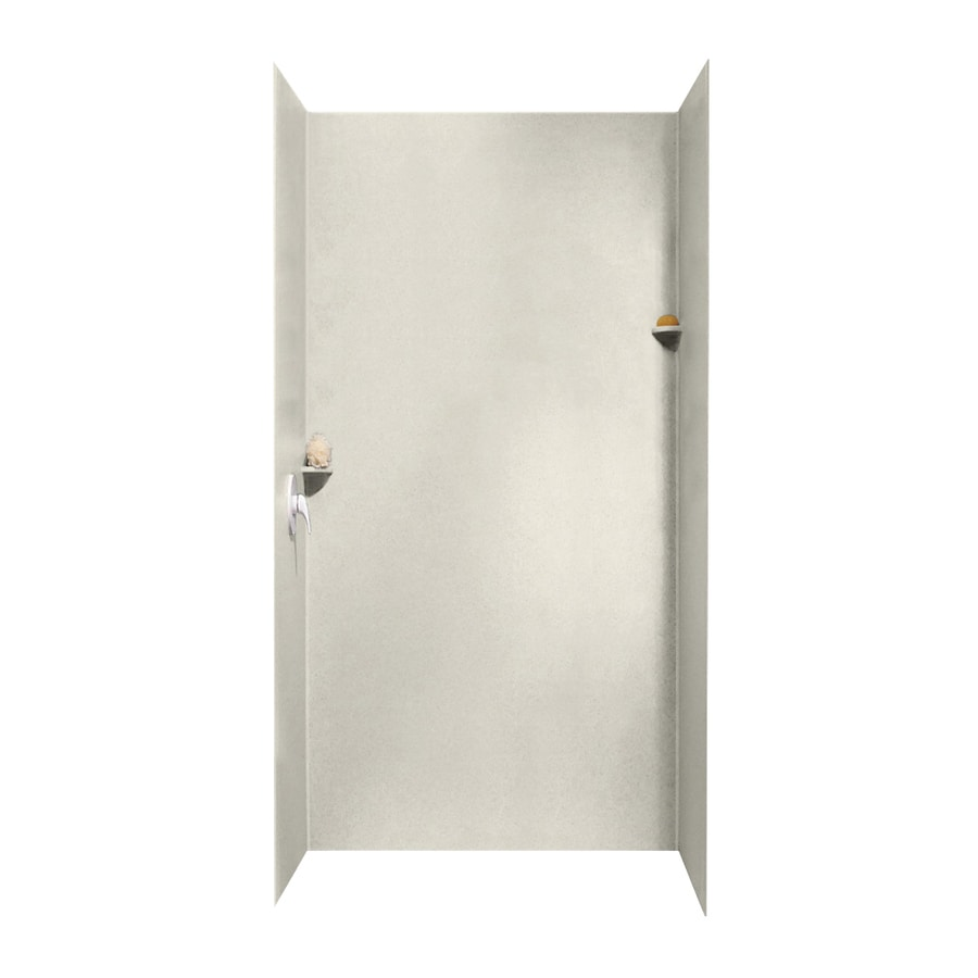Swanstone Glacier Shower Wall Surround Side and Back Walls (Common: 48-in x 36-in; Actual: 96-in x 48-in x 36-in)