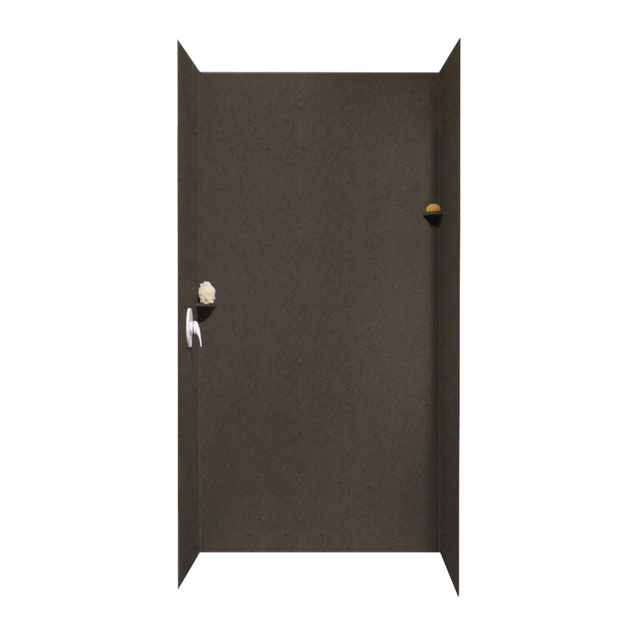 Swanstone Canyon Shower Wall Surround Side And Back Wall Kit (Common: 48-in x 36-in; Actual: 96-in x 48-in x 36-in)