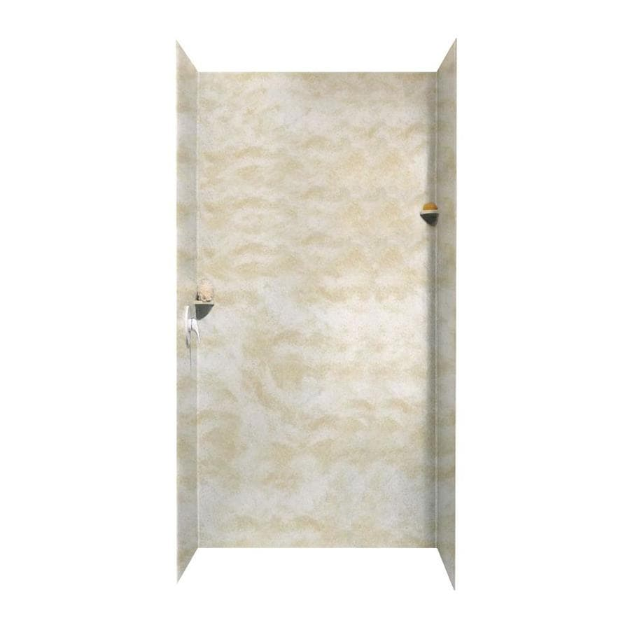 Swanstone Cloud White Shower Wall Surround Side And Back Wall Kit (Common: 48-in x 36-in; Actual: 96-in x 48-in x 36-in)