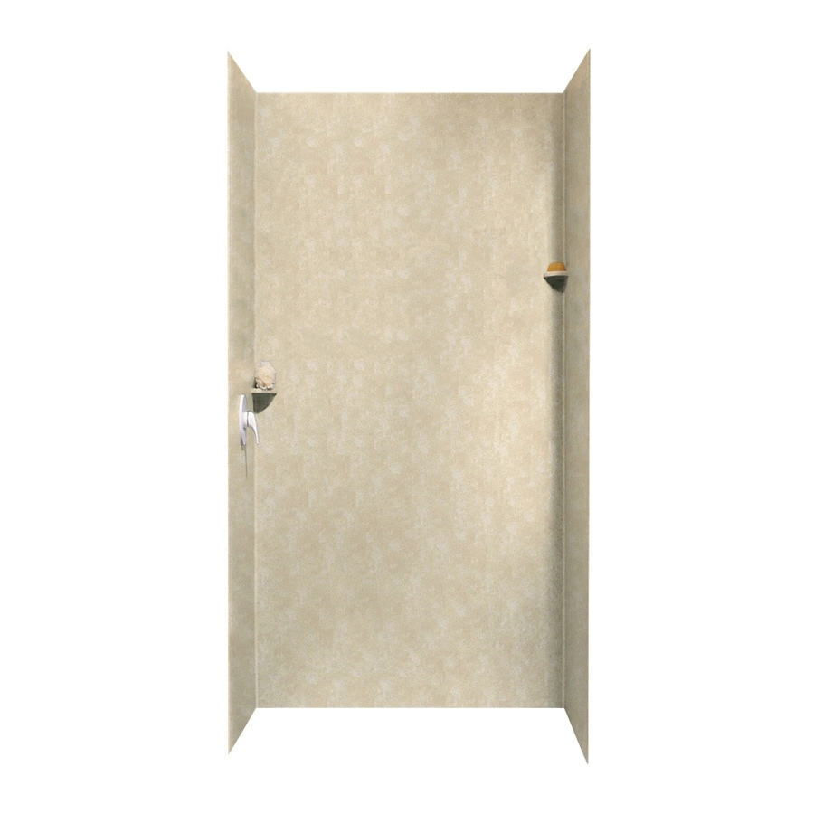Swanstone Cloud Bone Shower Wall Surround Side And Back Wall Kit (Common: 48-in x 36-in; Actual: 96-in x 48-in x 36-in)