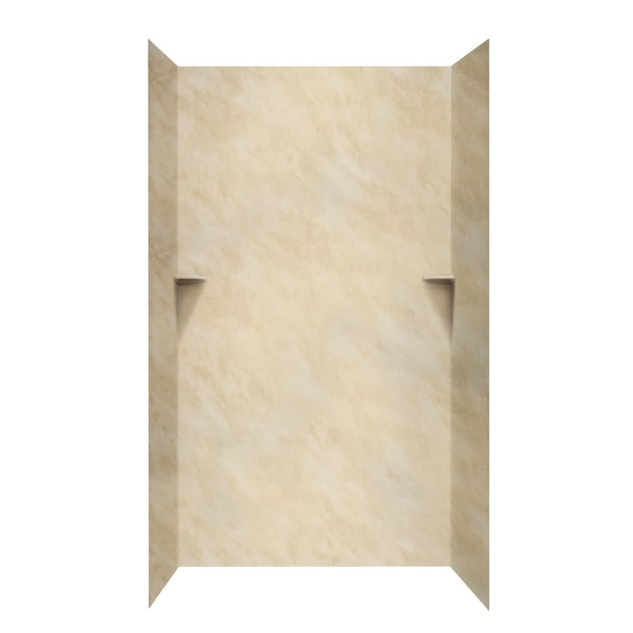 Swanstone Golden Steppe Shower Wall Surround Side and Back Wall Kit (Common: 48-in x 36-in; Actual: 96-in x 48-in x 36-in)