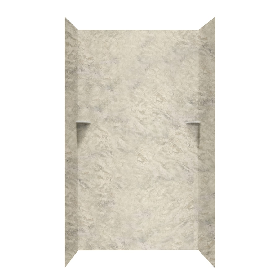 Swanstone Mountain Haze Shower Wall Surround Side and Back Wall Kit (Common: 48-in x 36-in; Actual: 96-in x 48-in x 36-in)