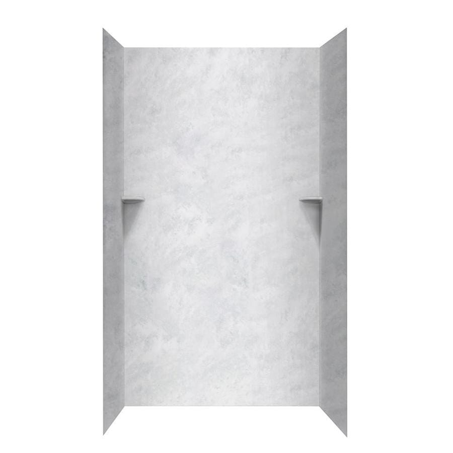 Swanstone Ice Shower Wall Surround Side and Back Walls (Common: 48-in x 36-in; Actual: 96-in x 48-in x 36-in)