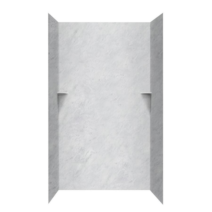 Swanstone Tundra Shower Wall Surround Side and Back Wall Kit (Common: 48-in x 36-in; Actual: 96-in x 48-in x 36-in)