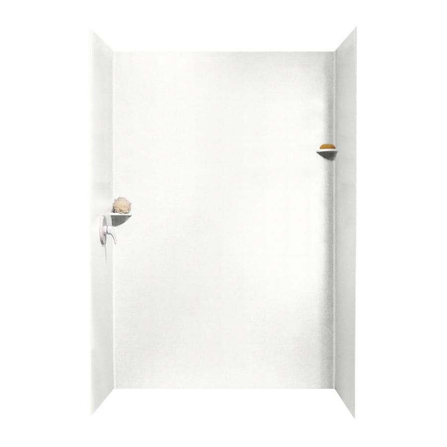 Swanstone Tahiti White Shower Wall Surround Side and Back Wall Kit (Common: 62-in x 36-in; Actual: 96-in x 62-in x 36-in)