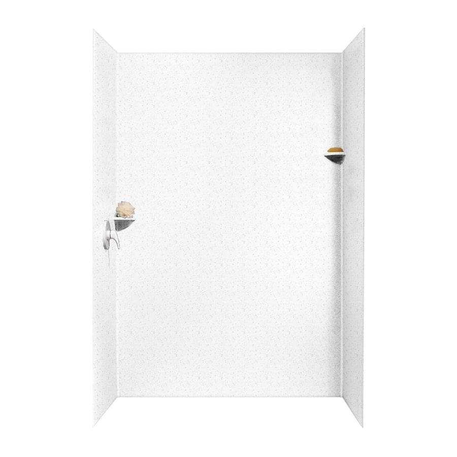 Swanstone Arctic Granite Shower Wall Surround Side and Back Wall Kit (Common: 62-in x 36-in; Actual: 96-in x 62-in x 36-in)