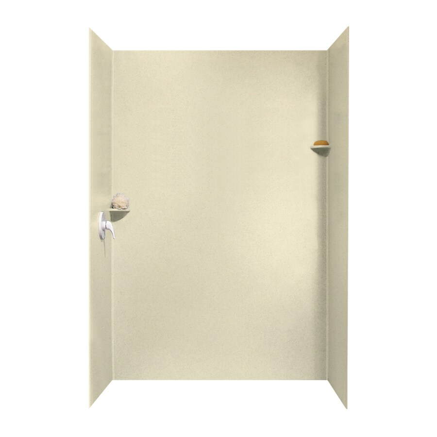 shop swanstone bone shower wall surround side and back