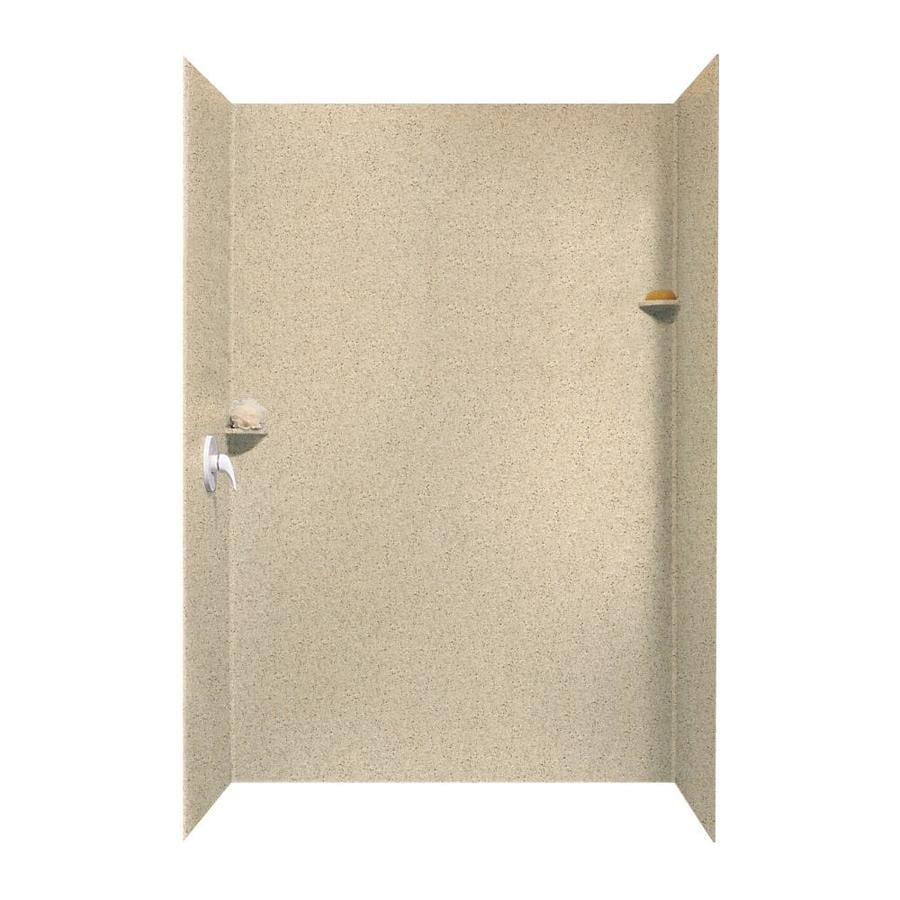 Swanstone Bermuda Sand Shower Wall Surround Side And Back Wall Kit (Common: 62-in x 36-in; Actual: 96-in x 62-in x 36-in)