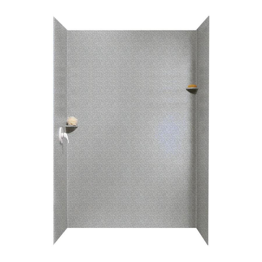 Swanstone Gray Granite Shower Wall Surround Side and Back Wall Kit (Common: 62-in x 36-in; Actual: 96-in x 62-in x 36-in)
