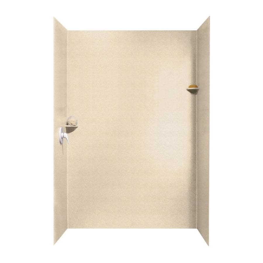 Swanstone Tahiti Sand Shower Wall Surround Side and Back Walls (Common: 62-in x 36-in; Actual: 96-in x 62-in x 36-in)