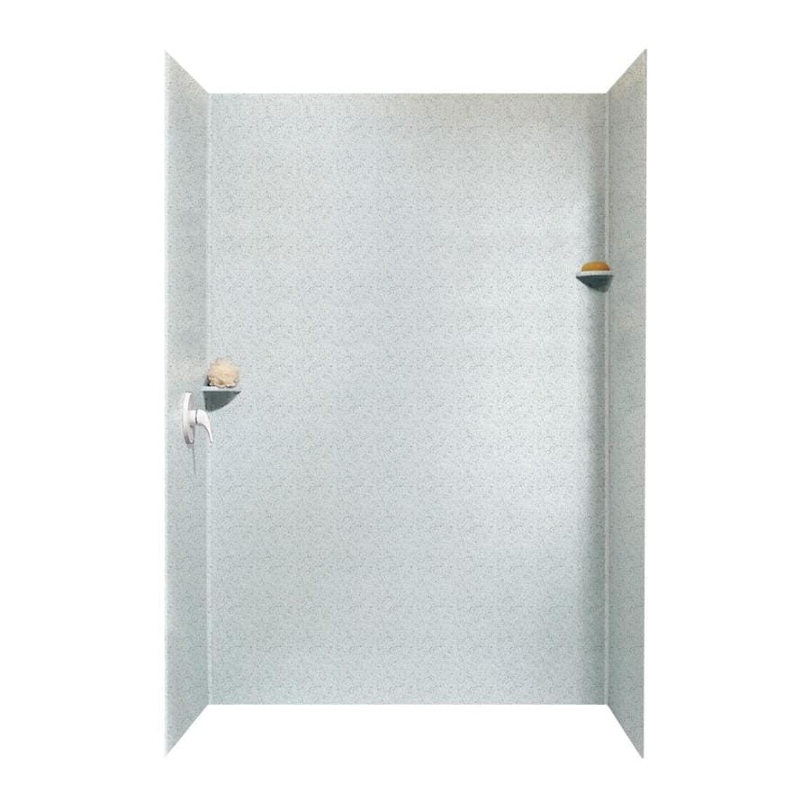 Swanstone Tahiti Gray Shower Wall Surround Side And Back Wall Kit (Common: 62-in x 36-in; Actual: 96-in x 62-in x 36-in)