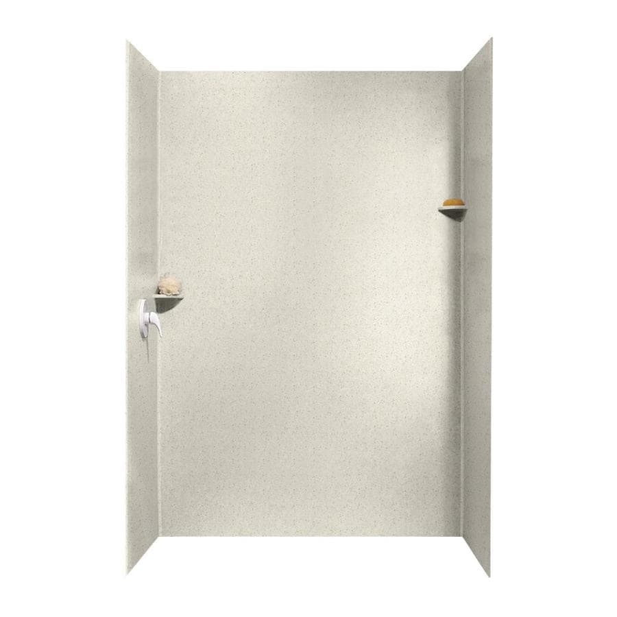 Swanstone Tahiti Matrix Shower Wall Surround Side And Back Wall Kit (Common: 62-in x 36-in; Actual: 96-in x 62-in x 36-in)