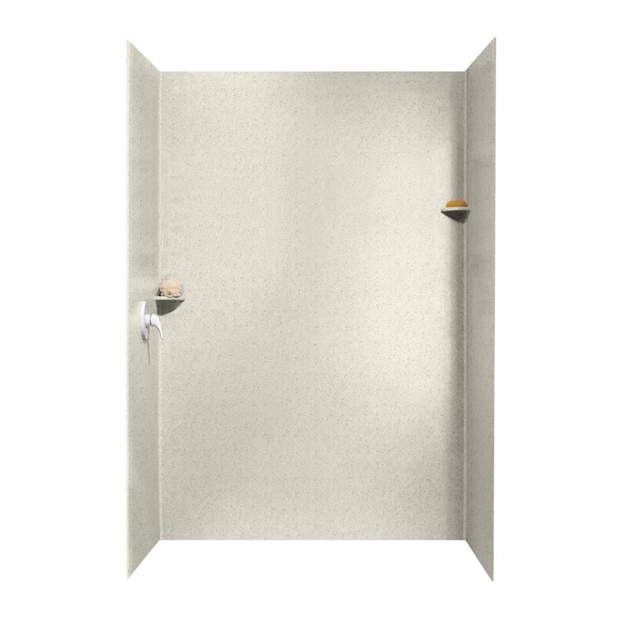 Swanstone Tahiti Matrix Shower Wall Surround Side and Back Walls (Common: 62-in x 36-in; Actual: 96-in x 62-in x 36-in)