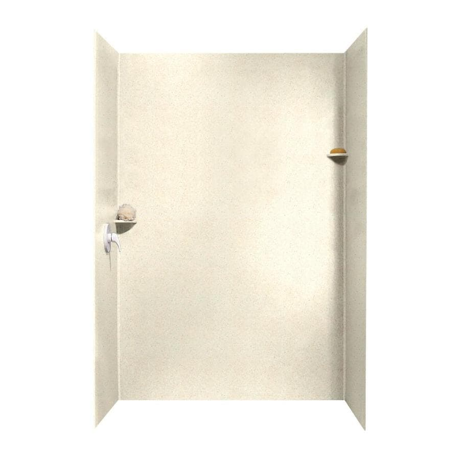 Swanstone Pebble Shower Wall Surround Side and Back Wall Kit (Common: 62-in x 36-in; Actual: 96-in x 62-in x 36-in)