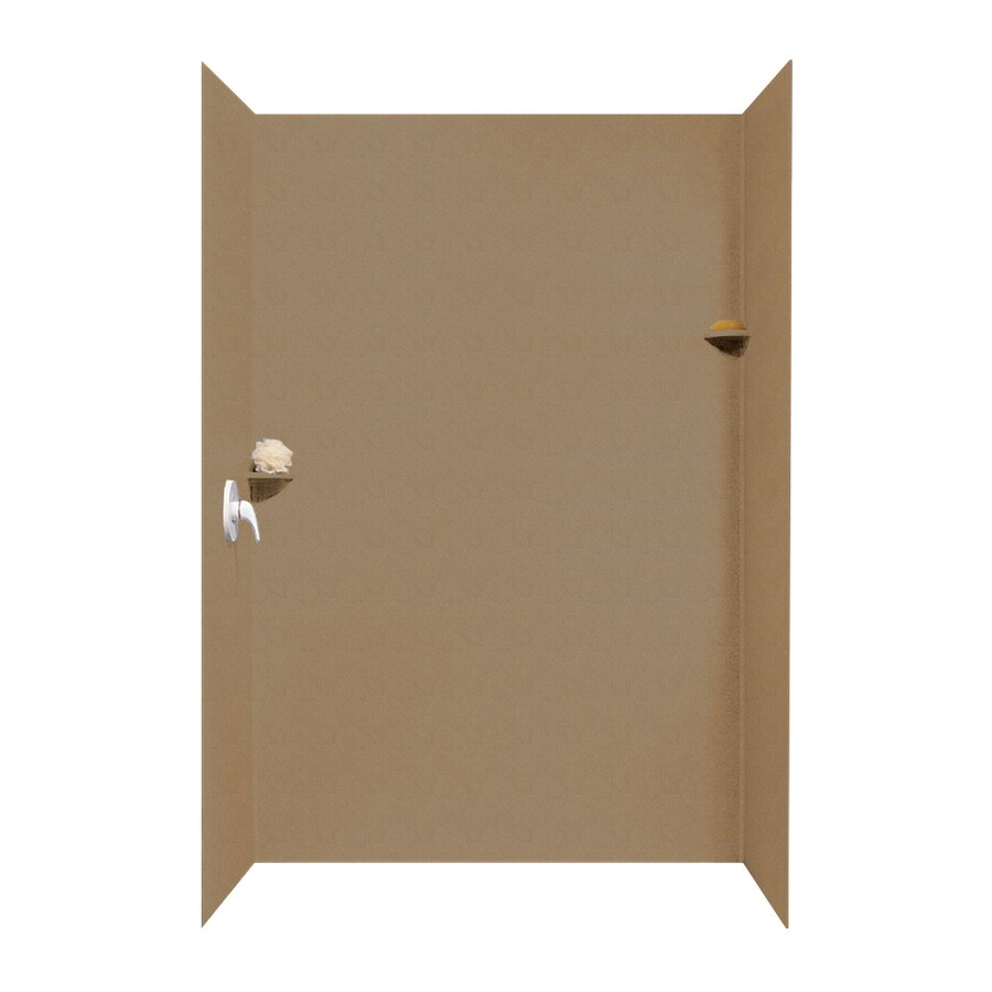 Swanstone Barley Shower Wall Surround Side and Back Walls (Common: 62-in x 36-in; Actual: 96-in x 62-in x 36-in)