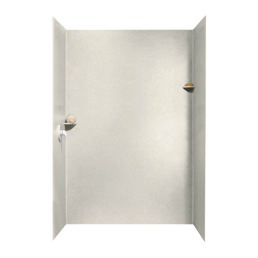 Swanstone Glacier Shower Wall Surround Side and Back Walls (Common: 62-in x 36-in; Actual: 96-in x 62-in x 36-in)