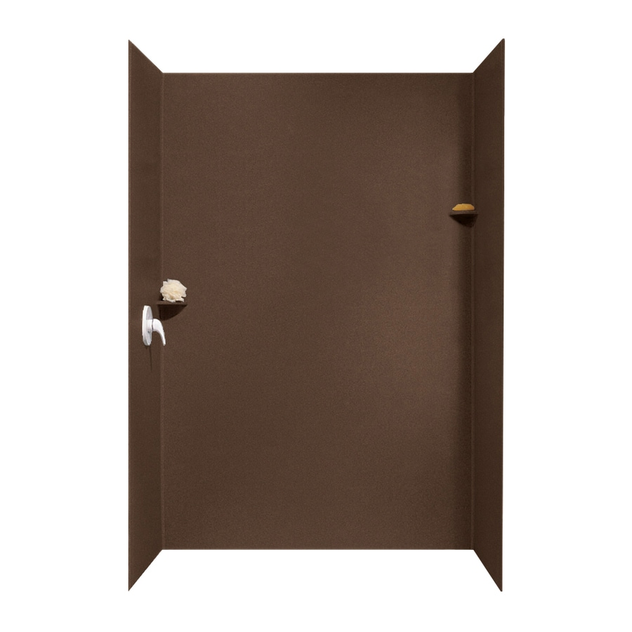 Swanstone Acorn Shower Wall Surround Side and Back Walls (Common: 62-in x 36-in; Actual: 96-in x 62-in x 36-in)