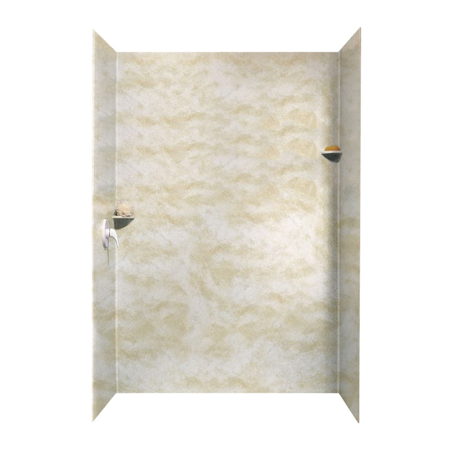 Swanstone Cloud White Shower Wall Surround Side and Back Walls (Common: 62-in x 36-in; Actual: 96-in x 62-in x 36-in)