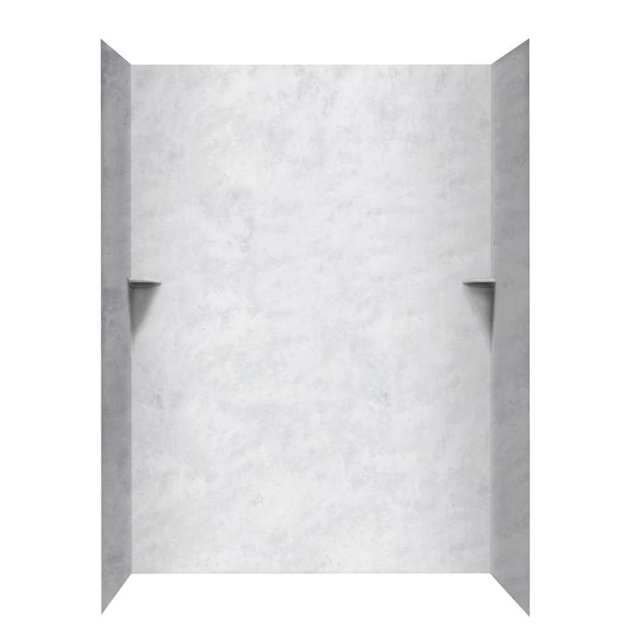 Swanstone Ice Shower Wall Surround Side And Back Wall Kit (Common: 62 In