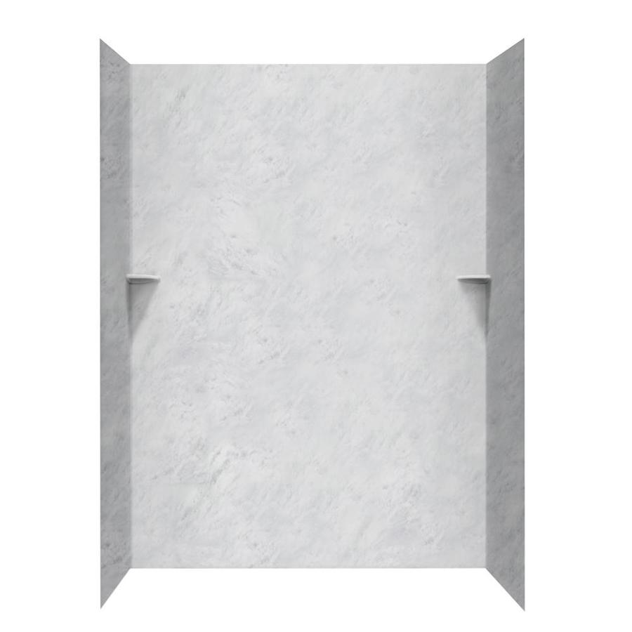 Swanstone Tundra Shower Wall Surround Side and Back Walls (Common: 62-in x 36-in; Actual: 96-in x 62-in x 36-in)