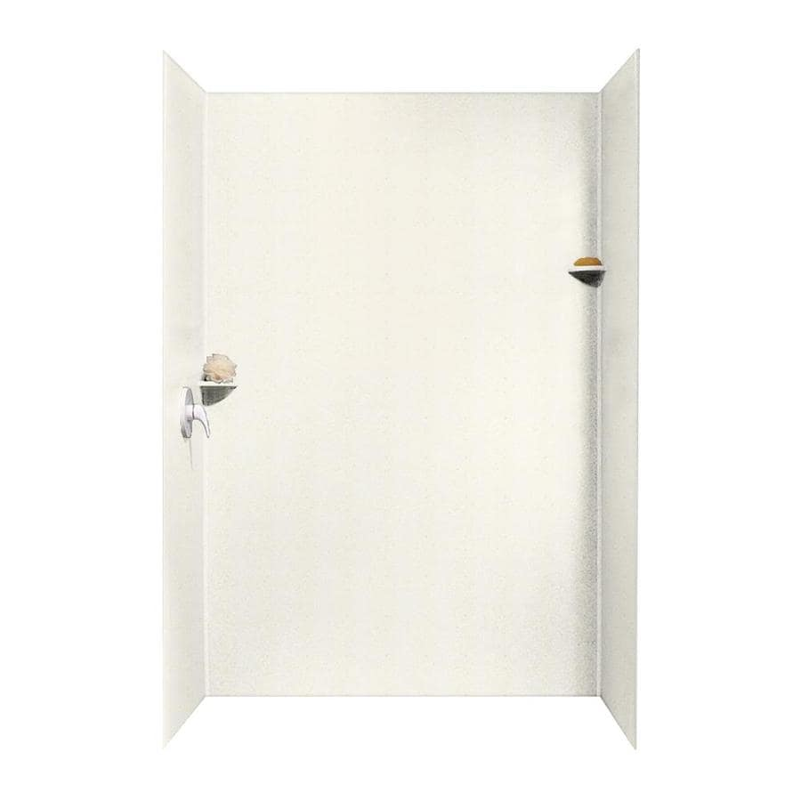 Swanstone Baby's Breath Shower Wall Surround Side and Back Walls (Common: 62-in x 36-in; Actual: 96-in x 62-in x 36-in)