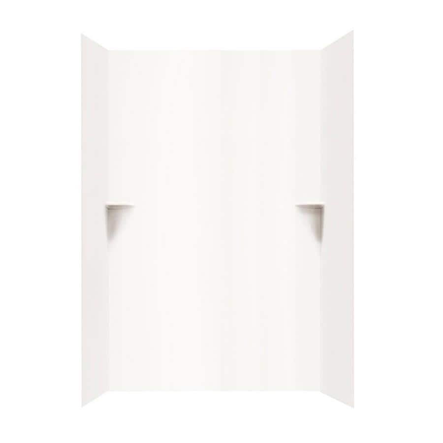 Swanstone White Shower Wall Surround Side and Back Walls (Common: 48-in x 48-in; Actual: 96-in x 48-in x 48-in)
