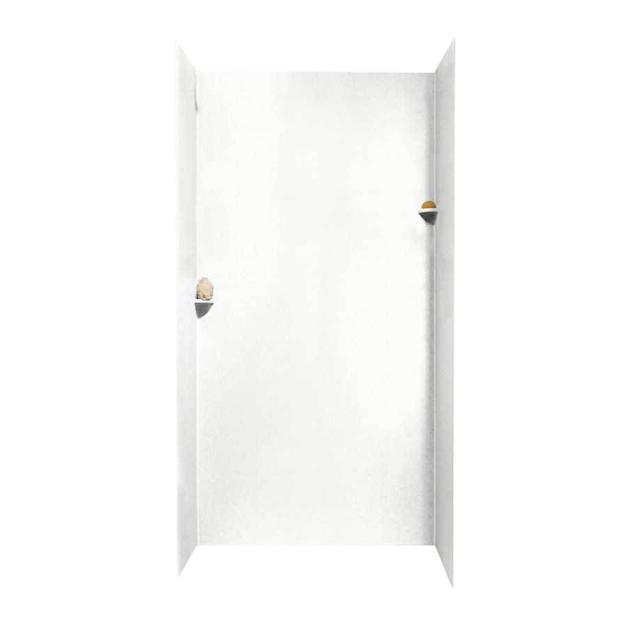 Swanstone Tahiti White Shower Wall Surround Side And Back Wall Kit (Common: 48-in x 48-in; Actual: 96-in x 48-in x 48-in)
